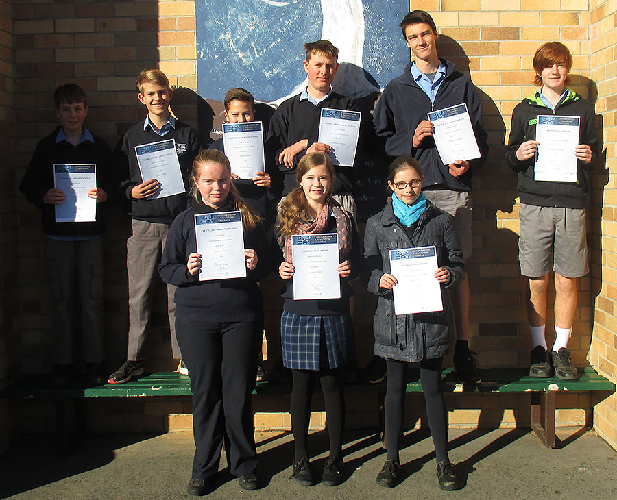 W_Cat Maths Competition winners